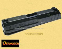Detonator Metal Slide & Outer Barrel for KSC USP Compact (Black)